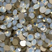 color-White-Opal-nail-flat-back-non-hot-fix-rhinestones-round-shape-flatback-non-hotfix-crystals