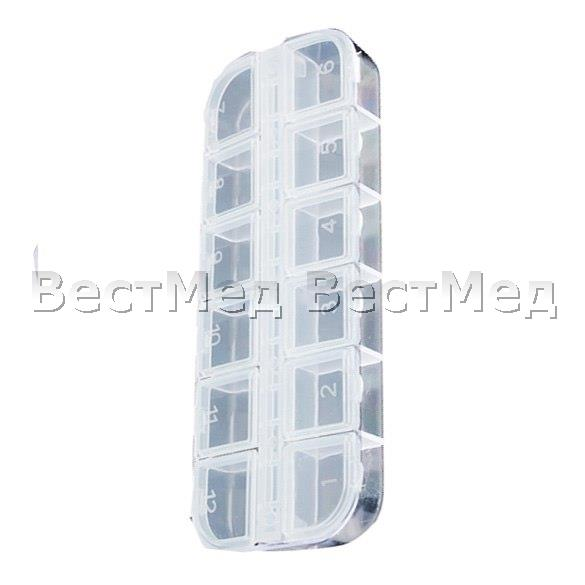 -12-Detachable-Clear-Plastic-Rhinestone-Nail-Art-Tools-Jewelry-Display-Storage-Box-Case-Organizer-Holder