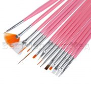 15pc-Nail-Art-Design-Dotting-Brush-Painting-Pen-Tool-Set-Pink-Stick-DIY-Fit-Tips-Professional